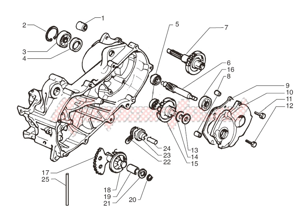 Rear wheel axle image