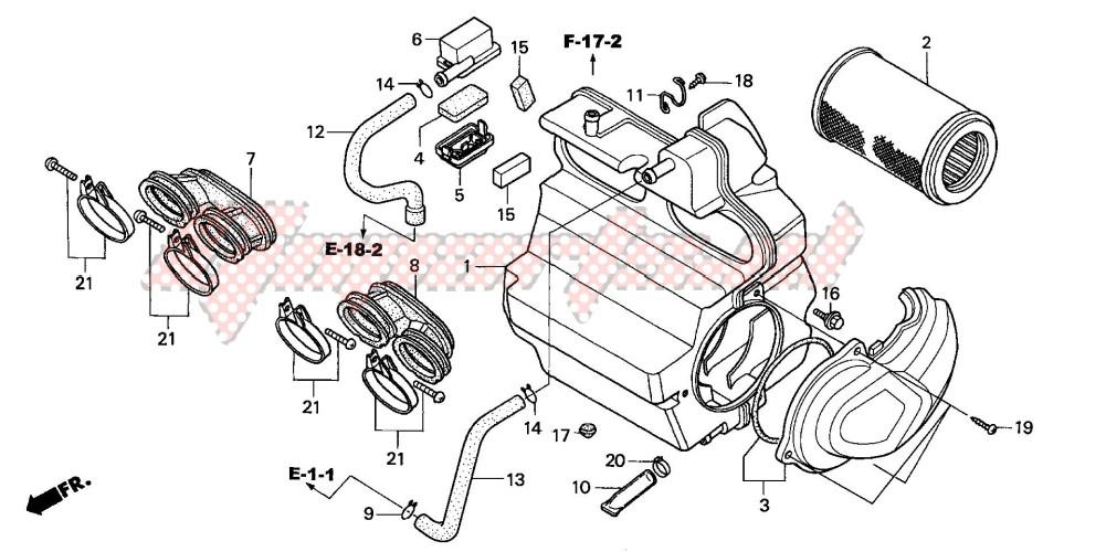 AIR CLEANER (CB600F3/4/5/6) blueprint