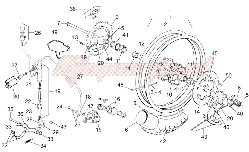 Rear wheel - Rear brake image