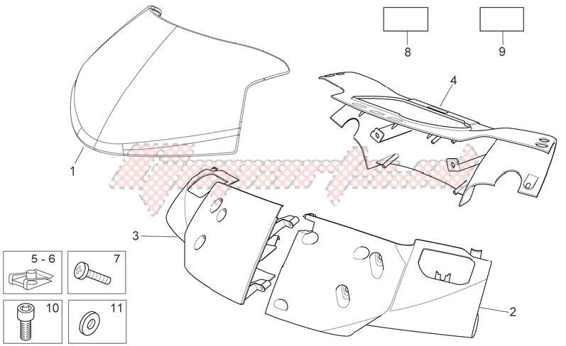 Frame-Front body - Front fairing