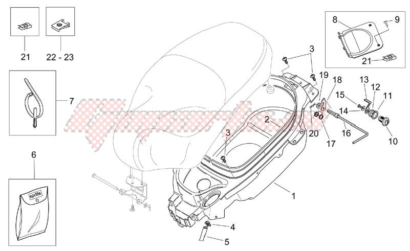 Helmet compartment image