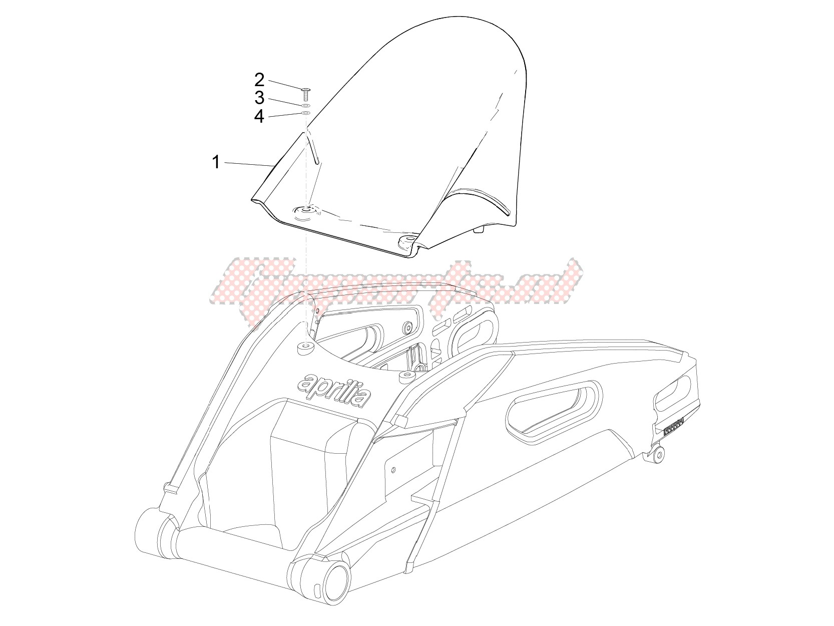 Chassis-Rear mudguard