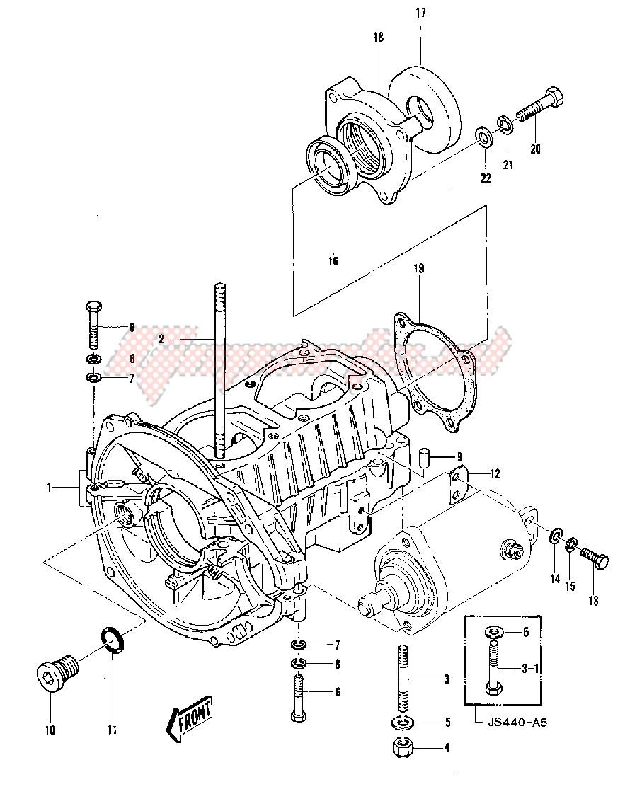 CRANKCASE -- 79-81 A3_A4_A4A_A5- - image