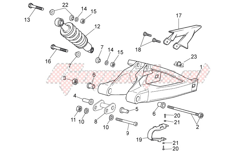 Frame-Swing arm - Shock absorber