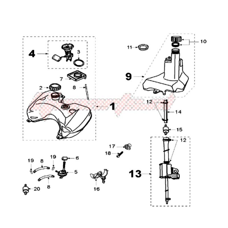 TANK AND FUEL PUMP blueprint