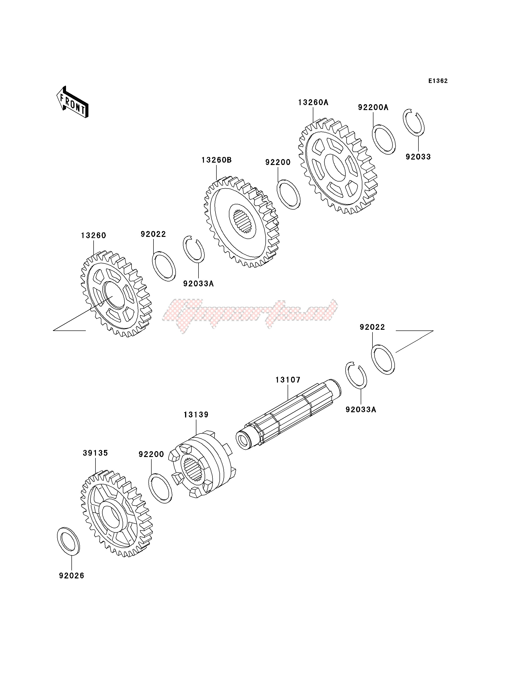 Engine-GEAR CHANGE DRUM_SHIFT FORK-- S- -