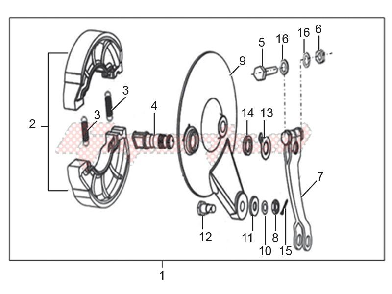 Rear brake assembly image