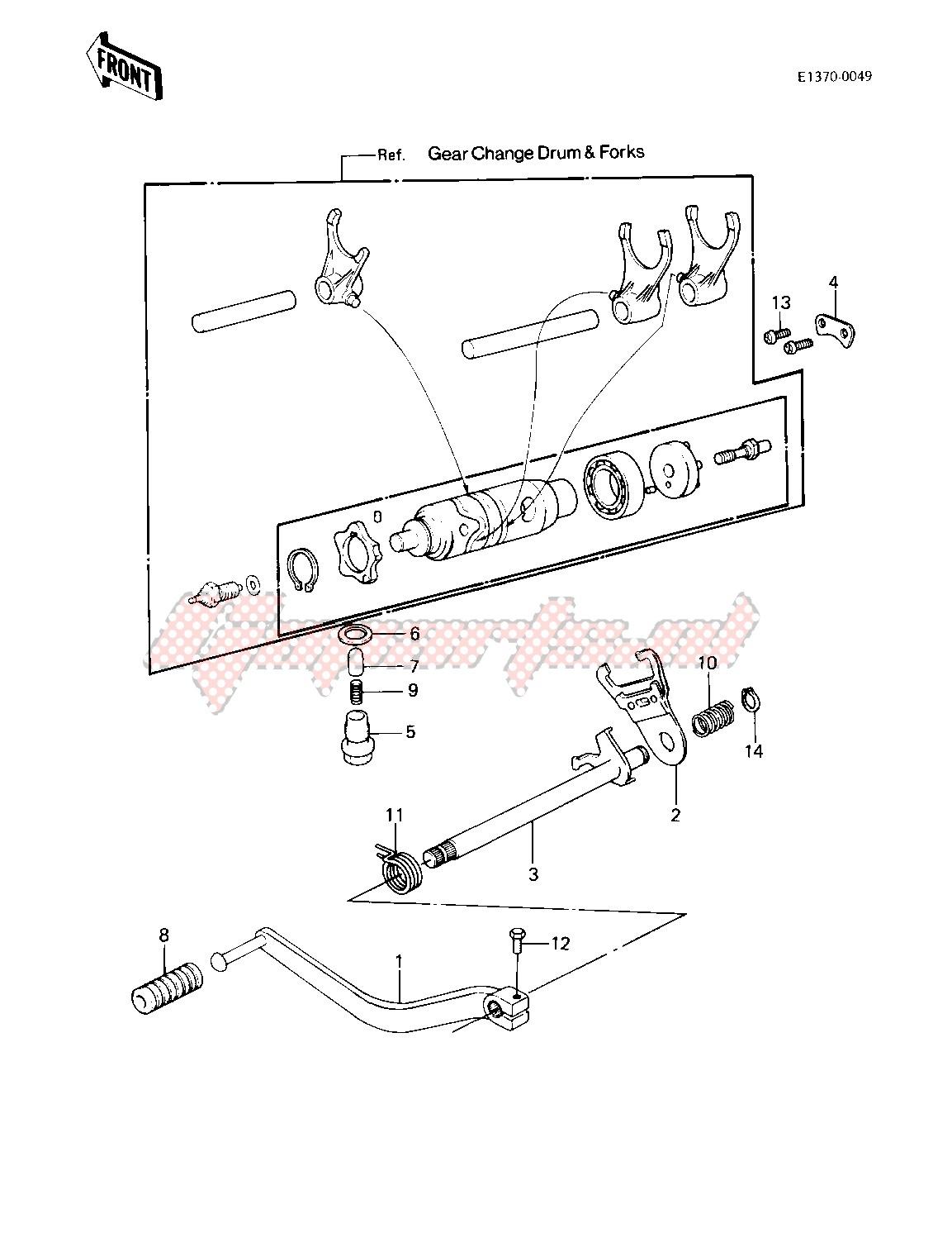GEAR CHANGE MECHANISM -- 83 KLT200-A4_A4A- - image