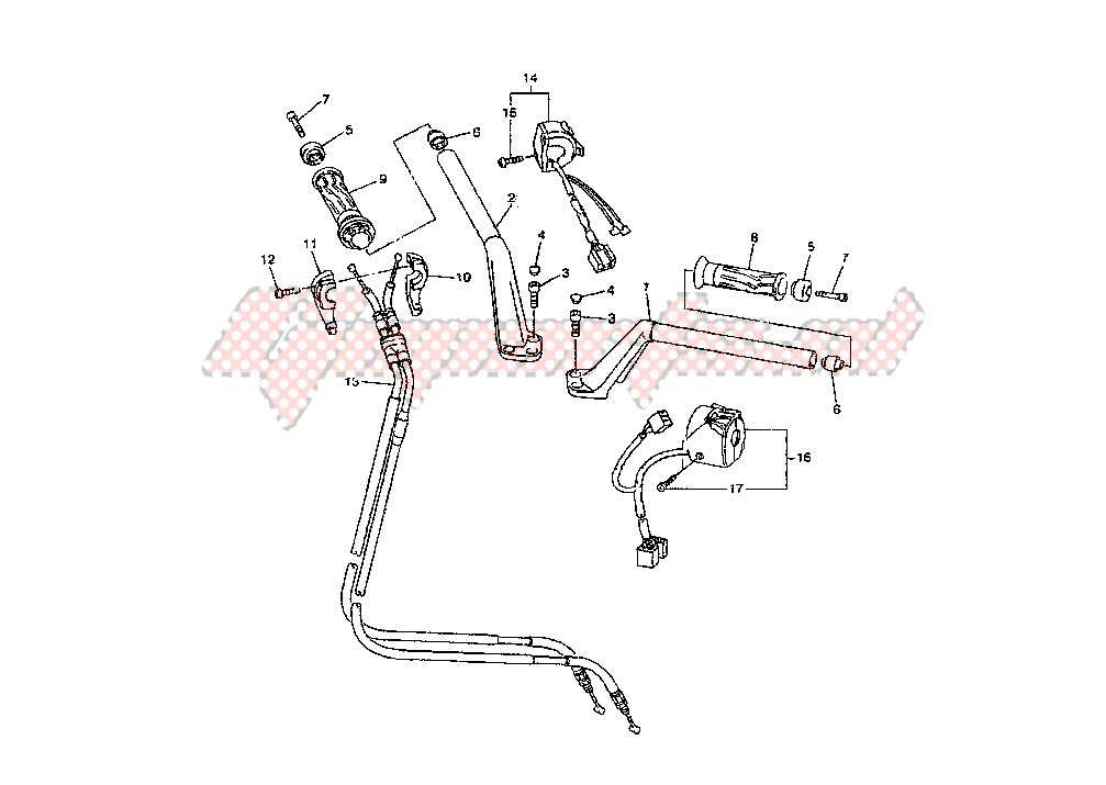 STEERING HANDLE – CABLE blueprint