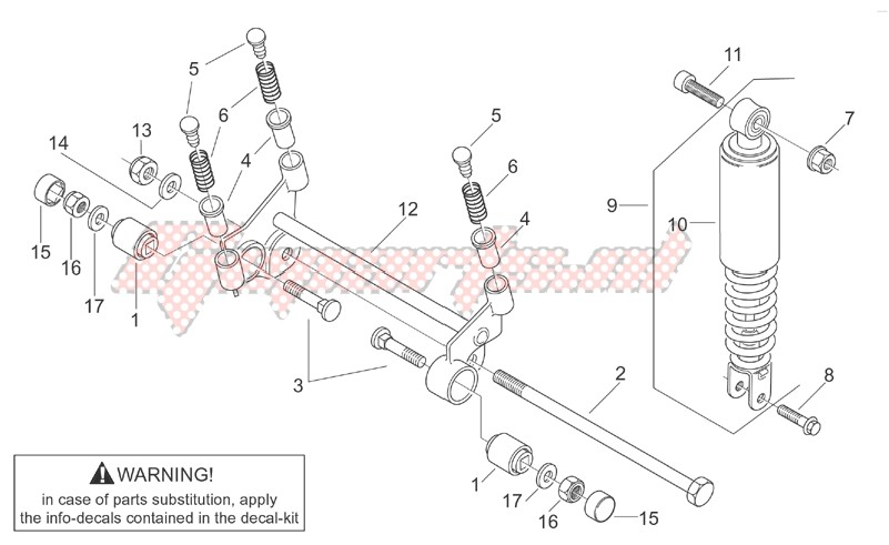 Frame-R.shock absorber-connect. Rod