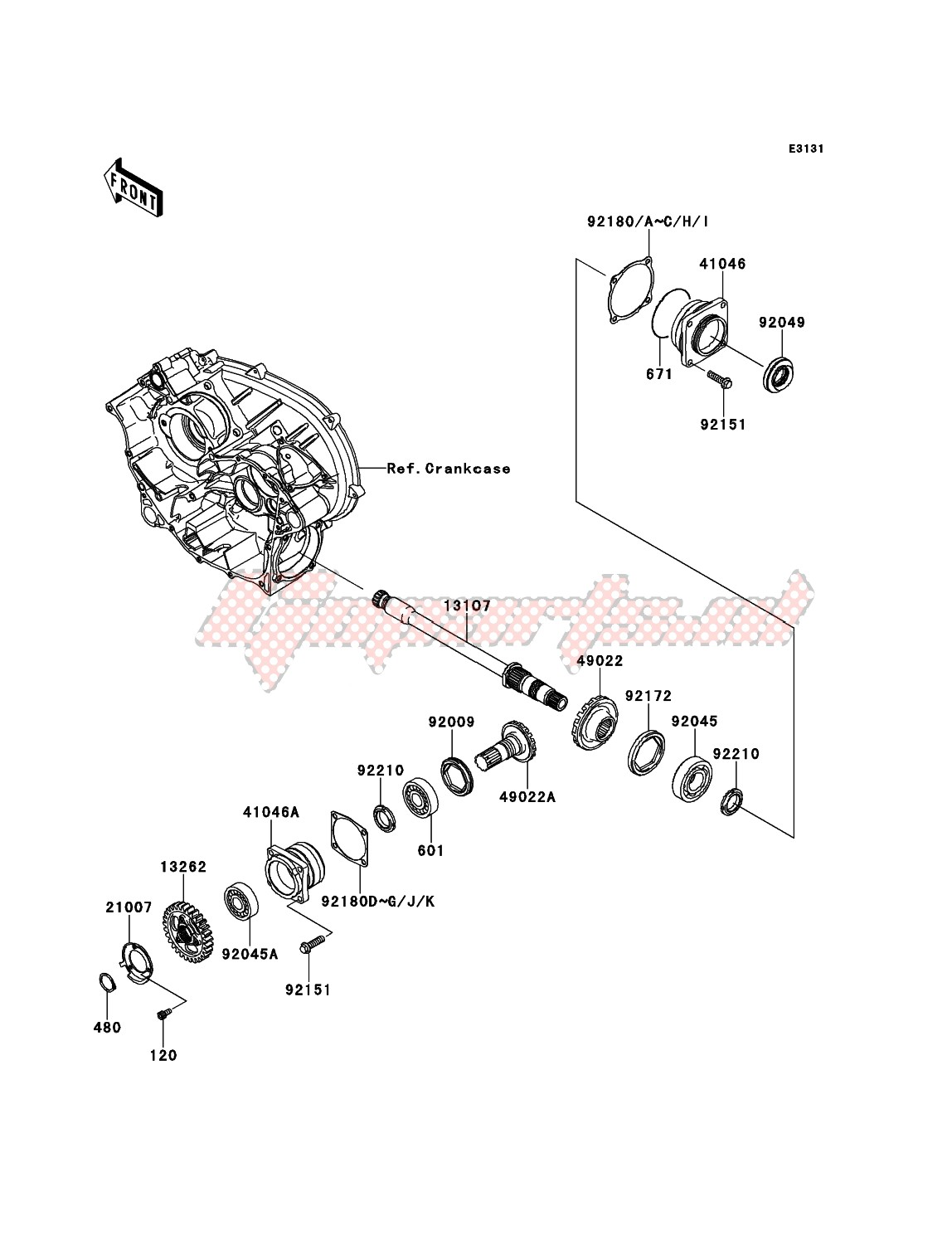 Engine-Front Bevel Gear