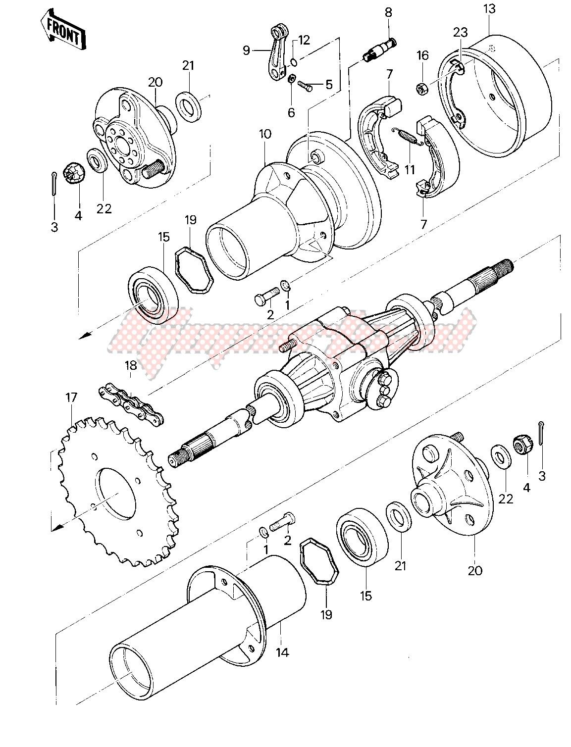 REAR BRAKE_CHAIN -- 83 KLT200-A4_A4A- - image