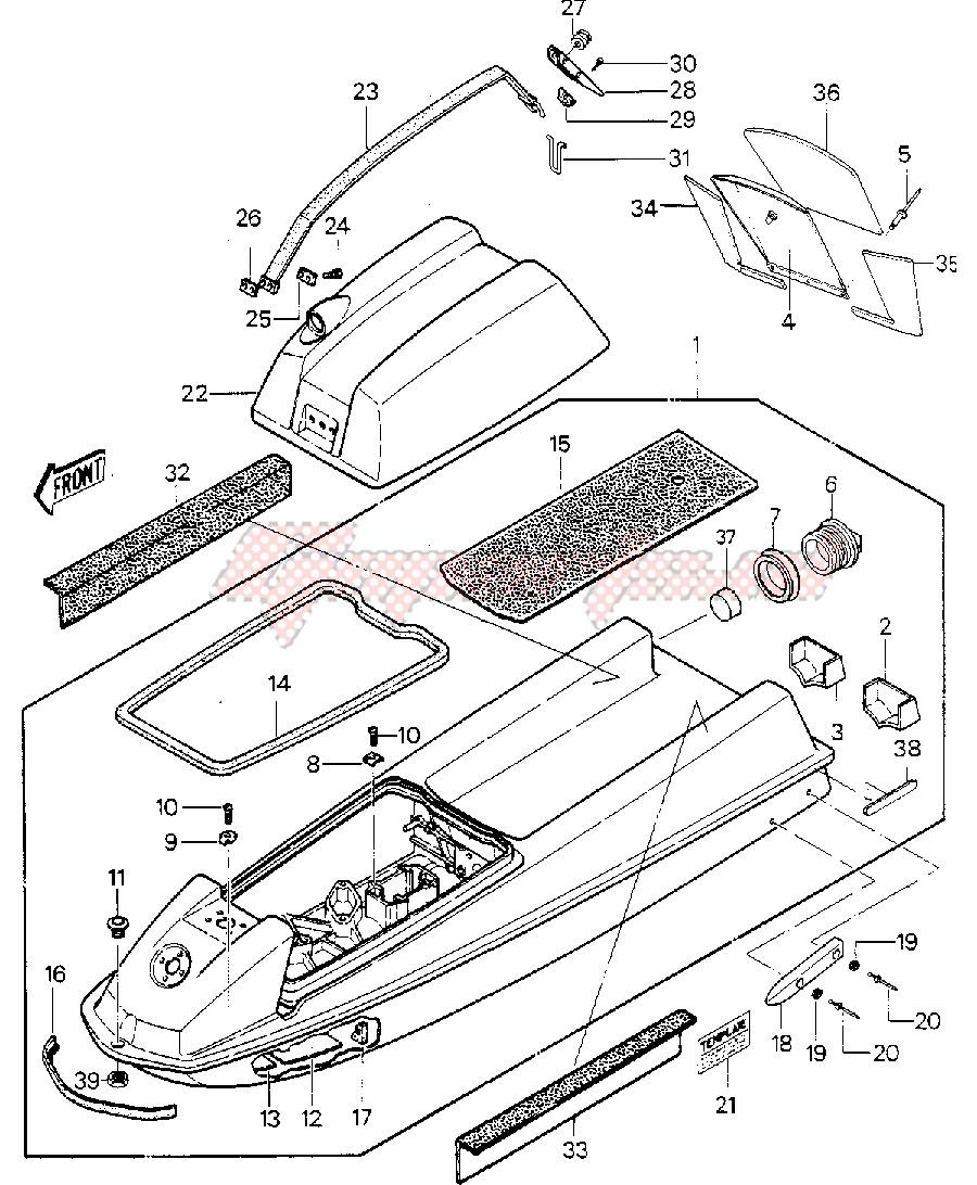 HULL_ENGINE HOOD -- JS550-A6_A7- - image