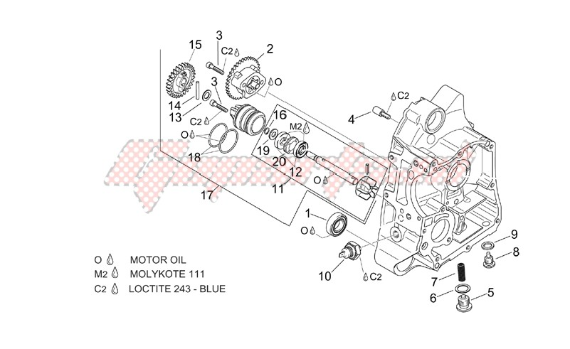 Engine-RH Semi-crankcase