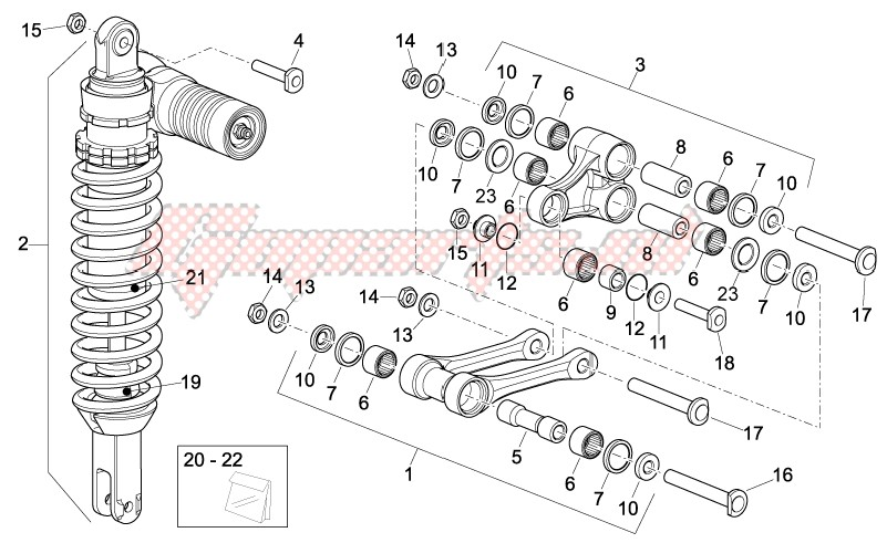 Suspensions - Wheels-Rear Shock absorber