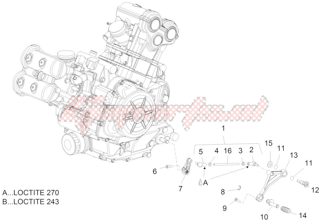 Engine-Gear lever