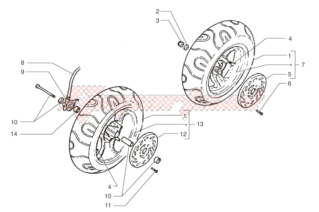 Front wheel-Rear wheel image