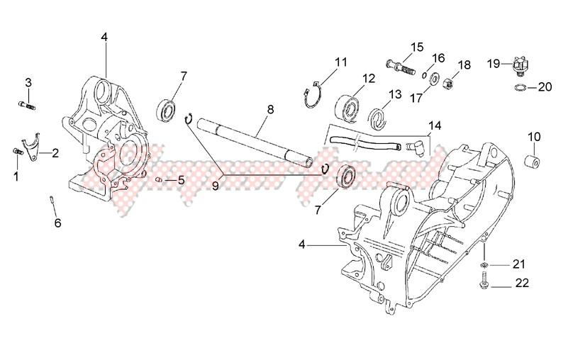 Central crank - Case set image