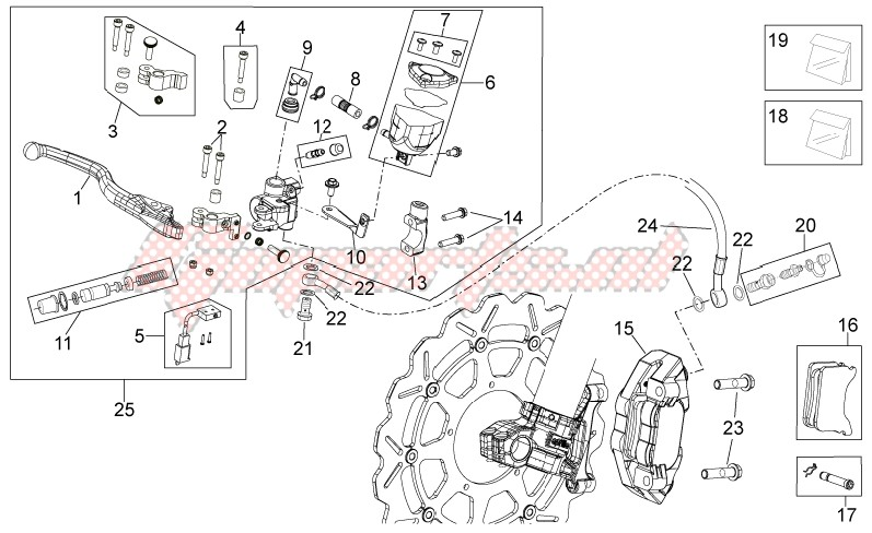 Front brake system I image