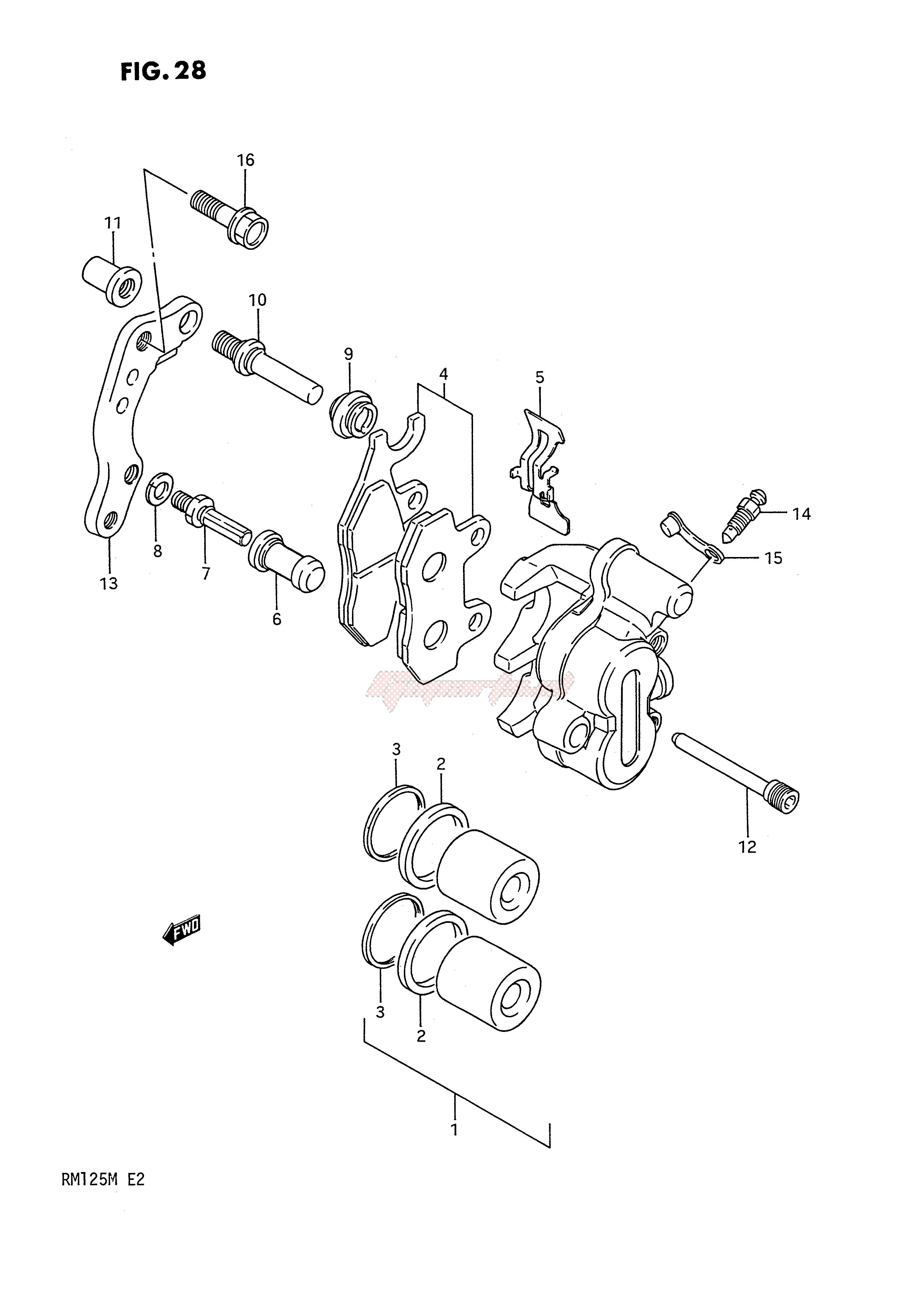 FRONT CALIPER (MODEL K L) blueprint