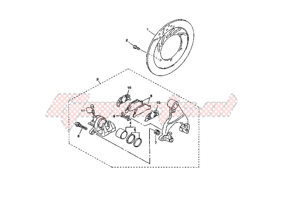 REAR BRAKE CALIPER blueprint