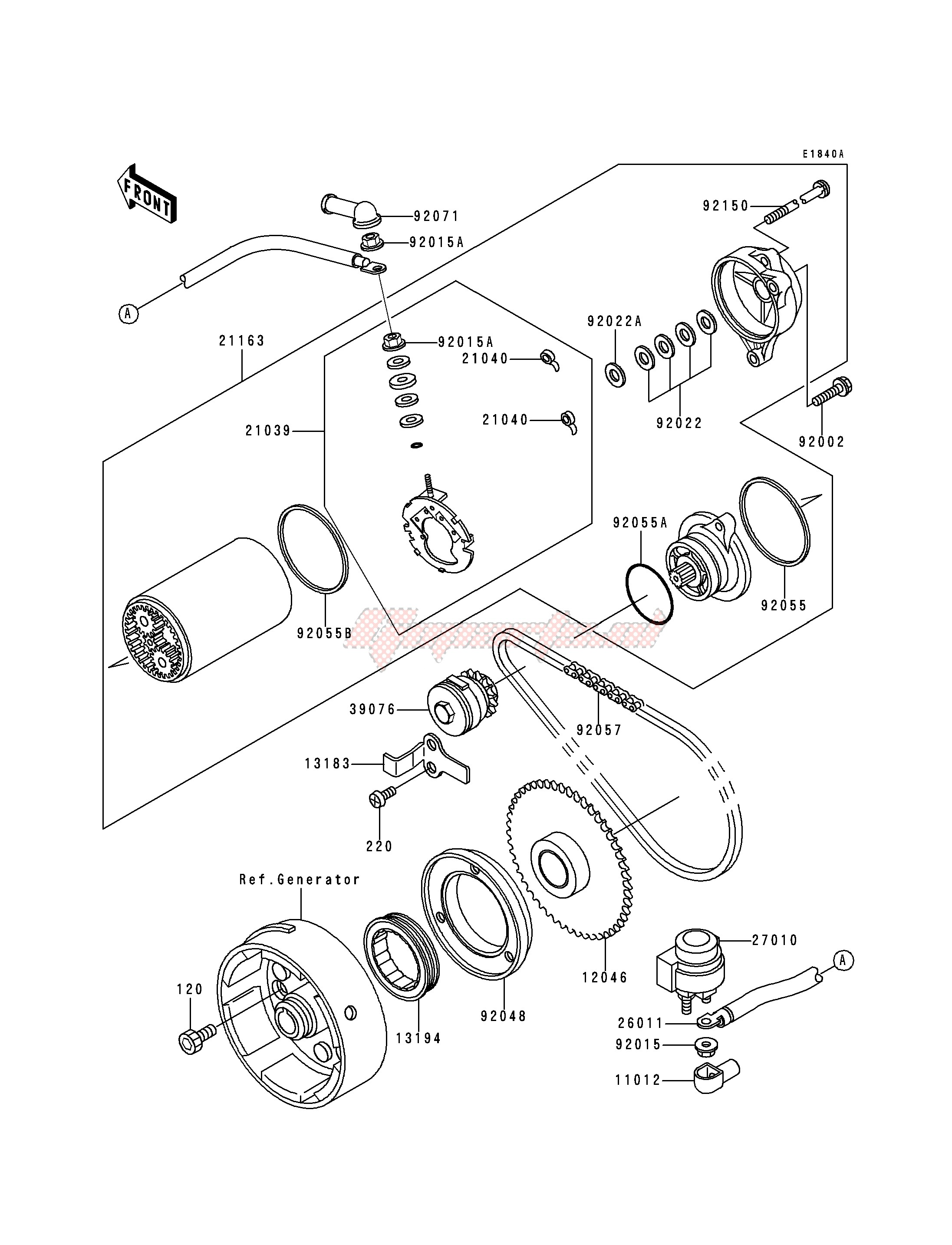 STARTER MOTOR-- KLF300-B2_B3_B4- - image