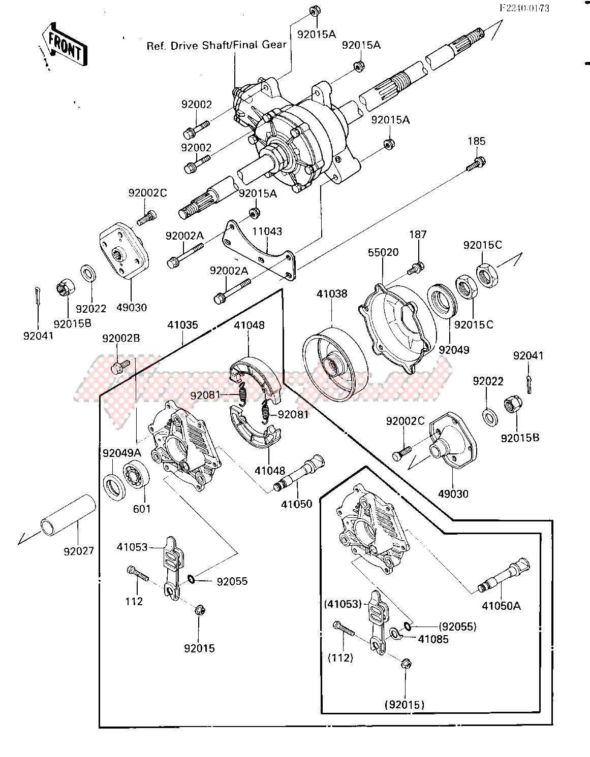 REAR HUB_BRAKE -- -F_NO.012886- - image