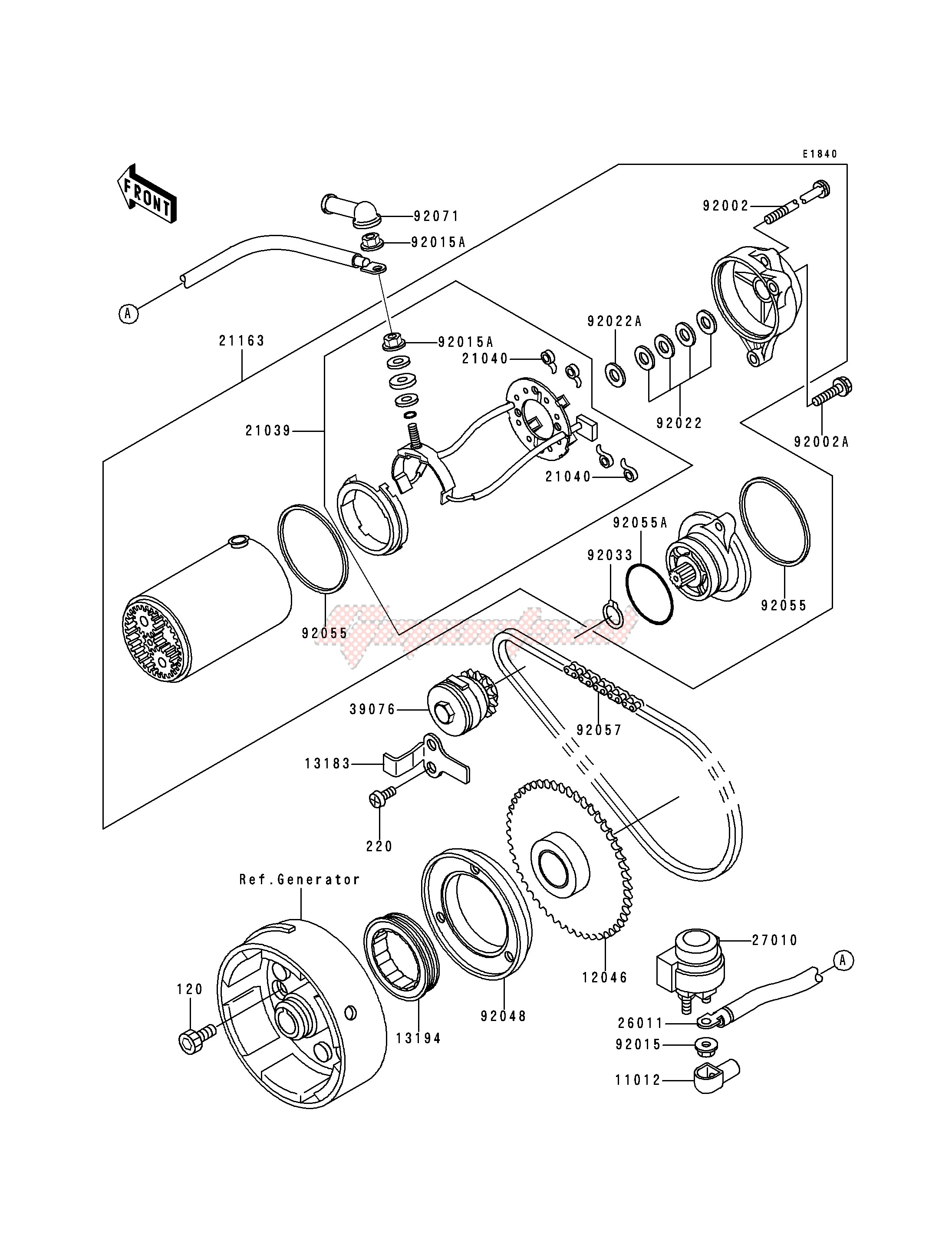 STARTER MOTOR-- KLF300-B1- - image