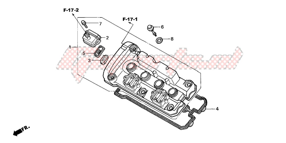 CYLINDER HEAD COVER (CB600F3/4/5/6) image