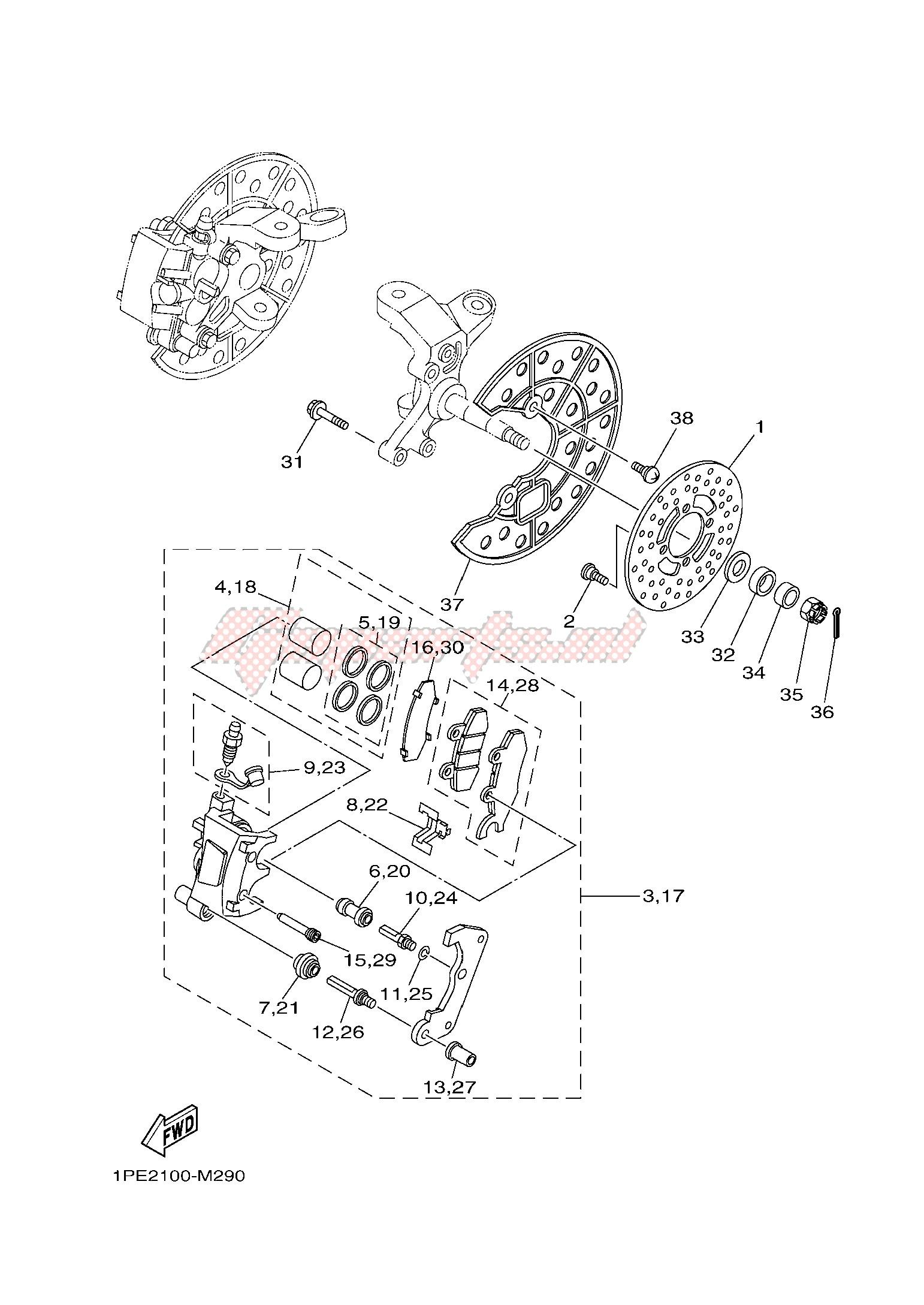 Spurverbreiterungen Ersatzteil f/ür//kompatibel mit Yamaha YFM700 R 35//45 mm Komplett x4 vorne+hinten