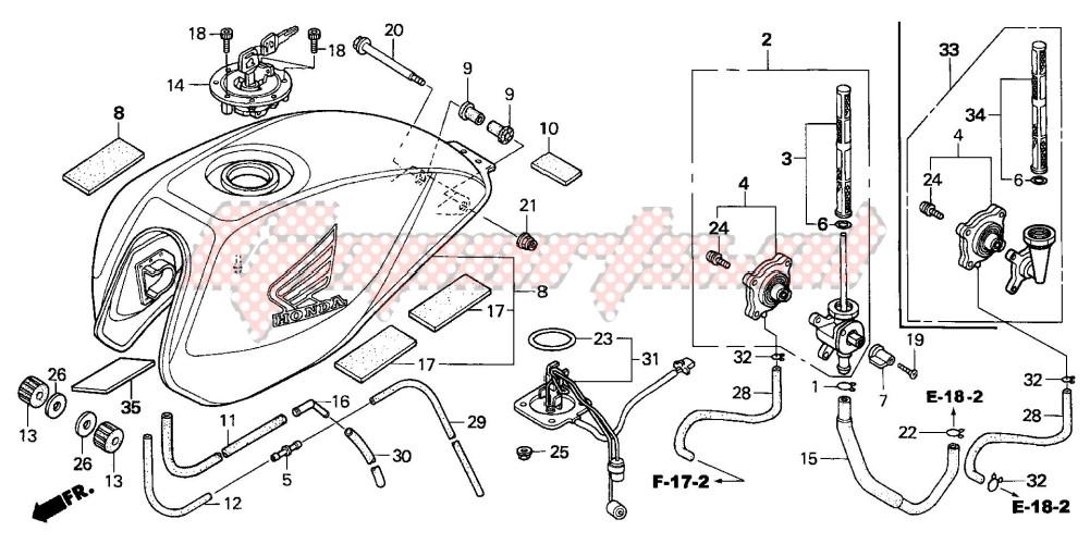 FUEL TANK (CB600F3/4/5/6) blueprint