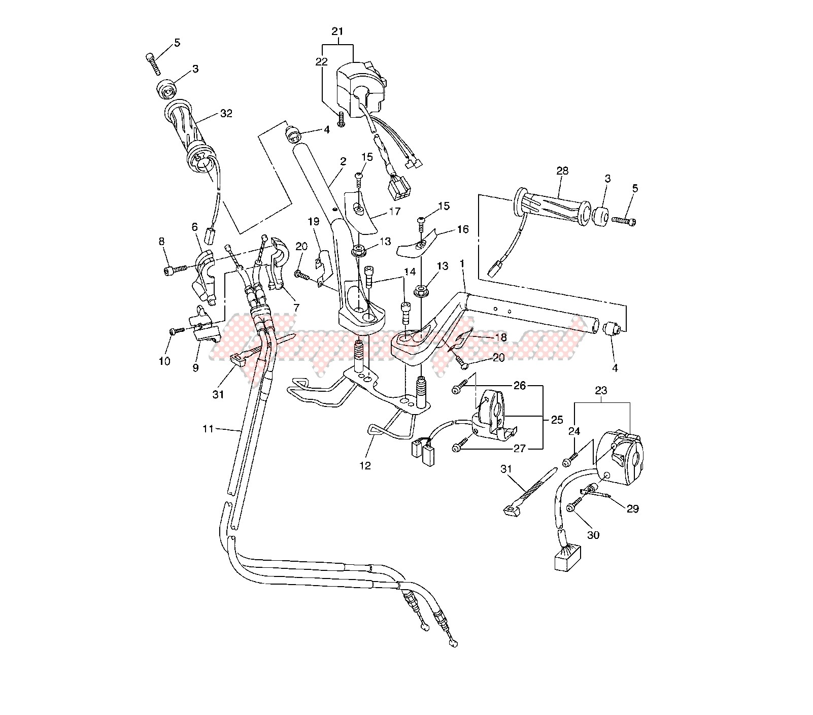 STEERING HANDLE AND CABLE image