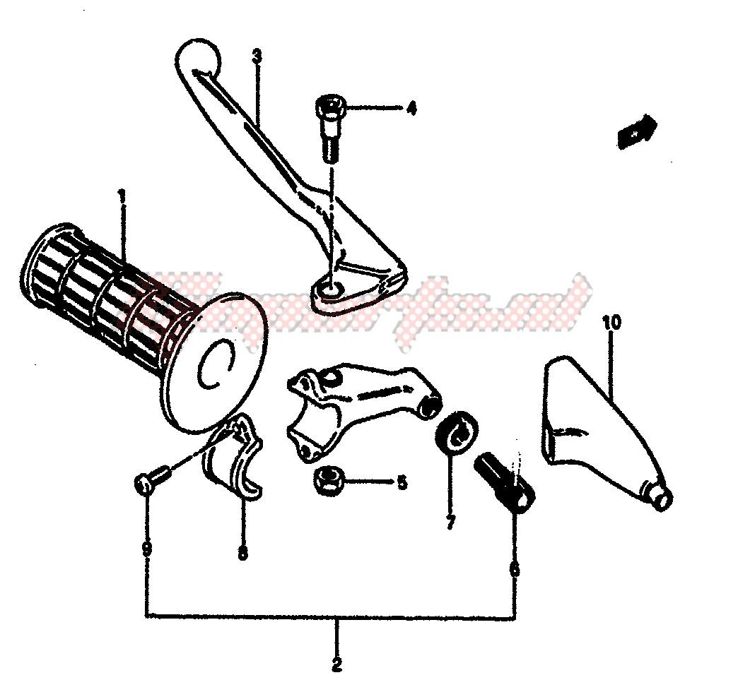LEFT HANDLE GRIP (MODEL F) blueprint