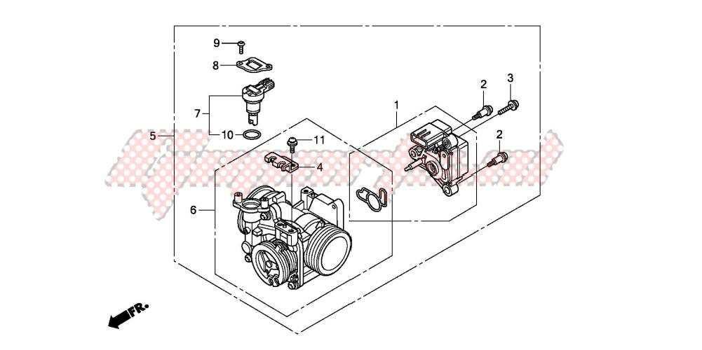 OEM THROTTLE BODY - (Honda Motorcycle VT750C2 VT750C2 ...