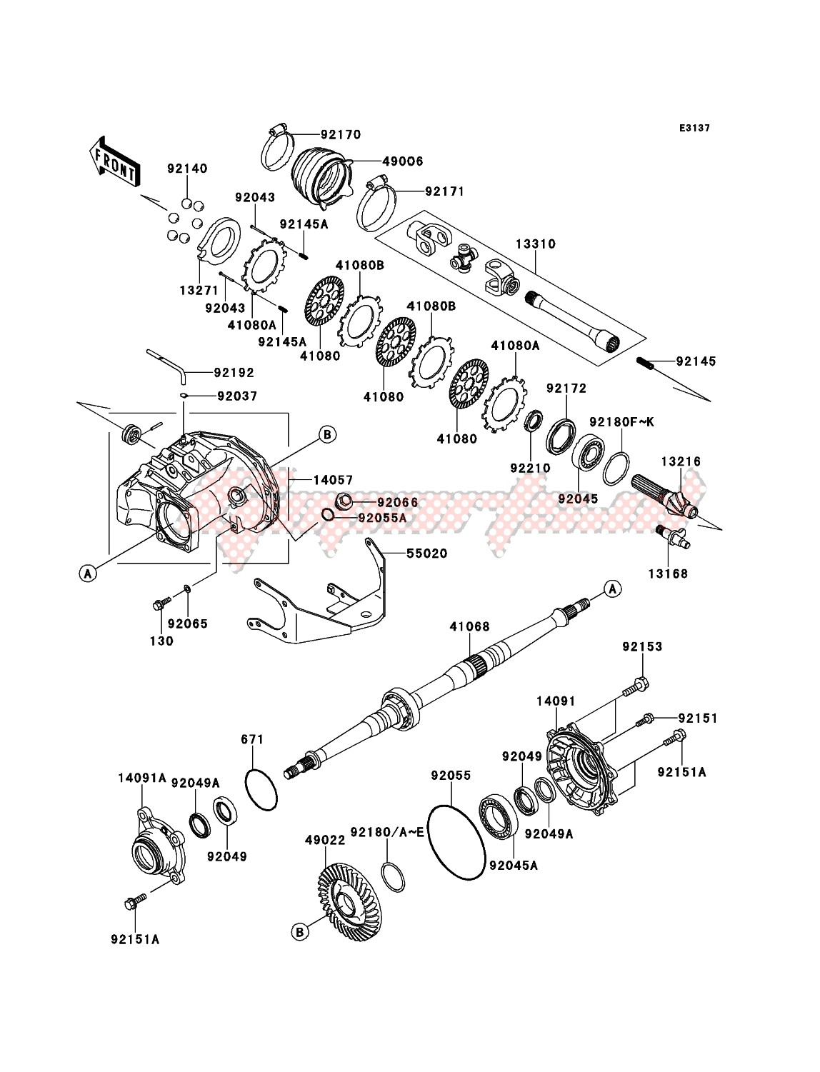 Engine-Drive Shaft-Rear