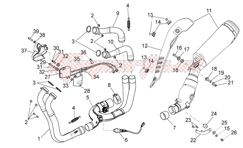 Frame-Exhaust pipe I