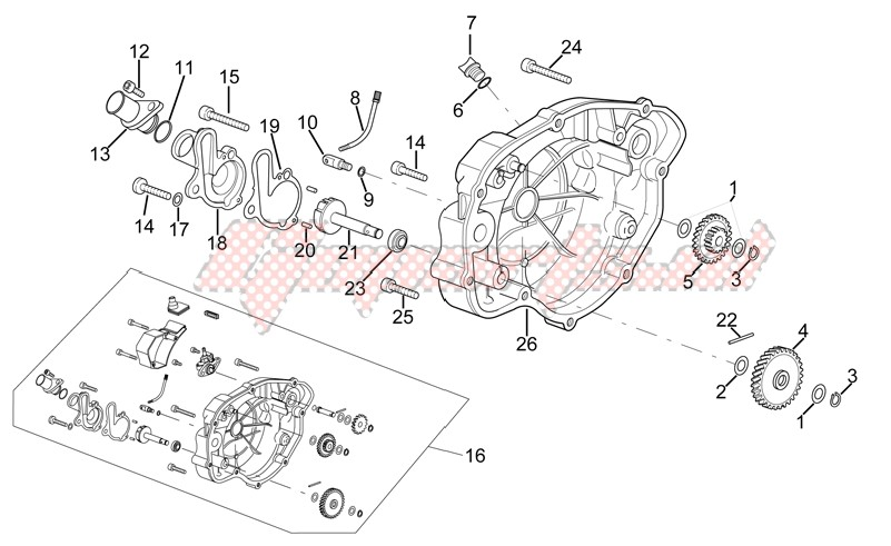 Engine-Clutch cover