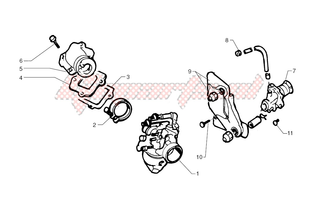 -Oil pump - Carburettor