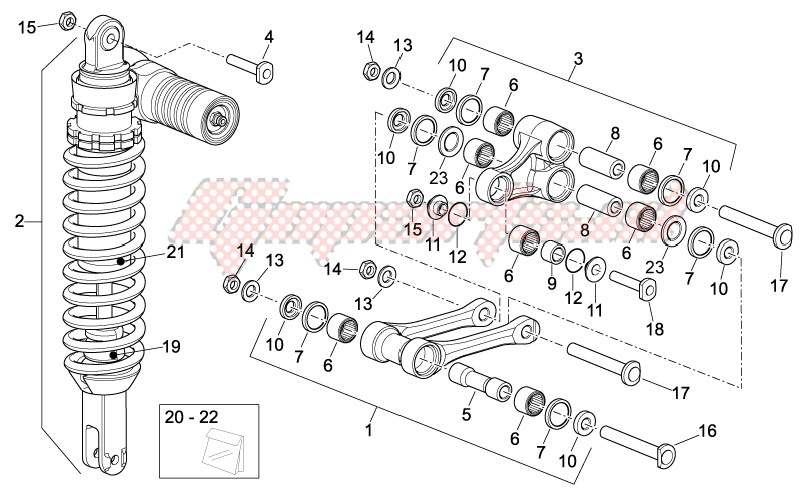 Frame-Rear Shock absorber