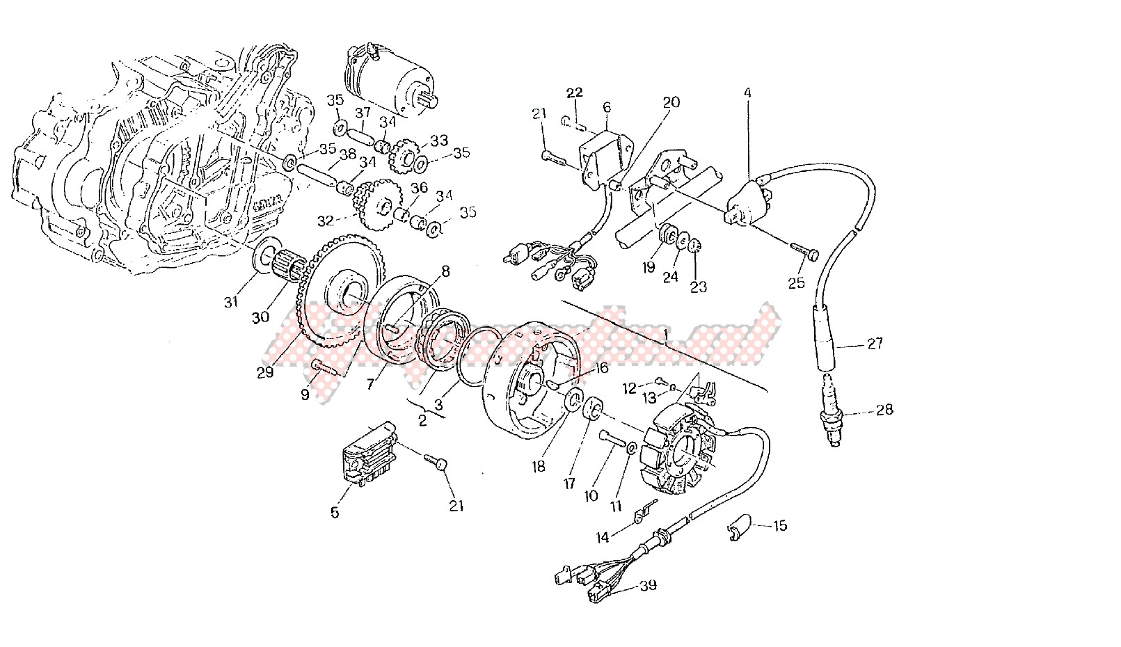 w12 engine diagram oem generator  cagiva  motorcycle  w12 350 1994  goparts  cagiva  motorcycle  w12 350