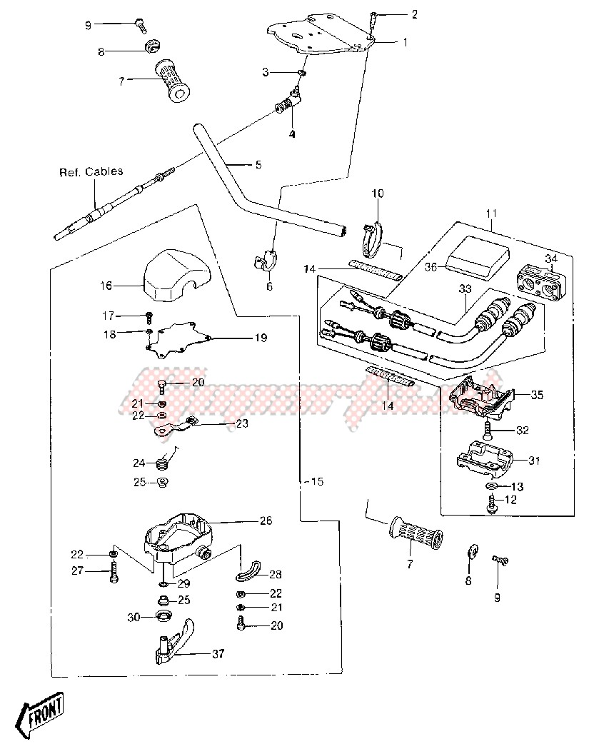 HANDLEBAR -- JS550-A5- - image