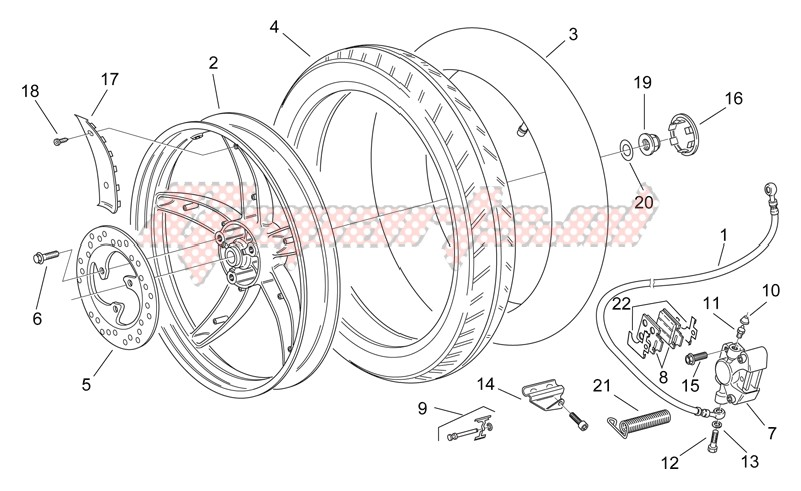 Rear wheel - disc brake image