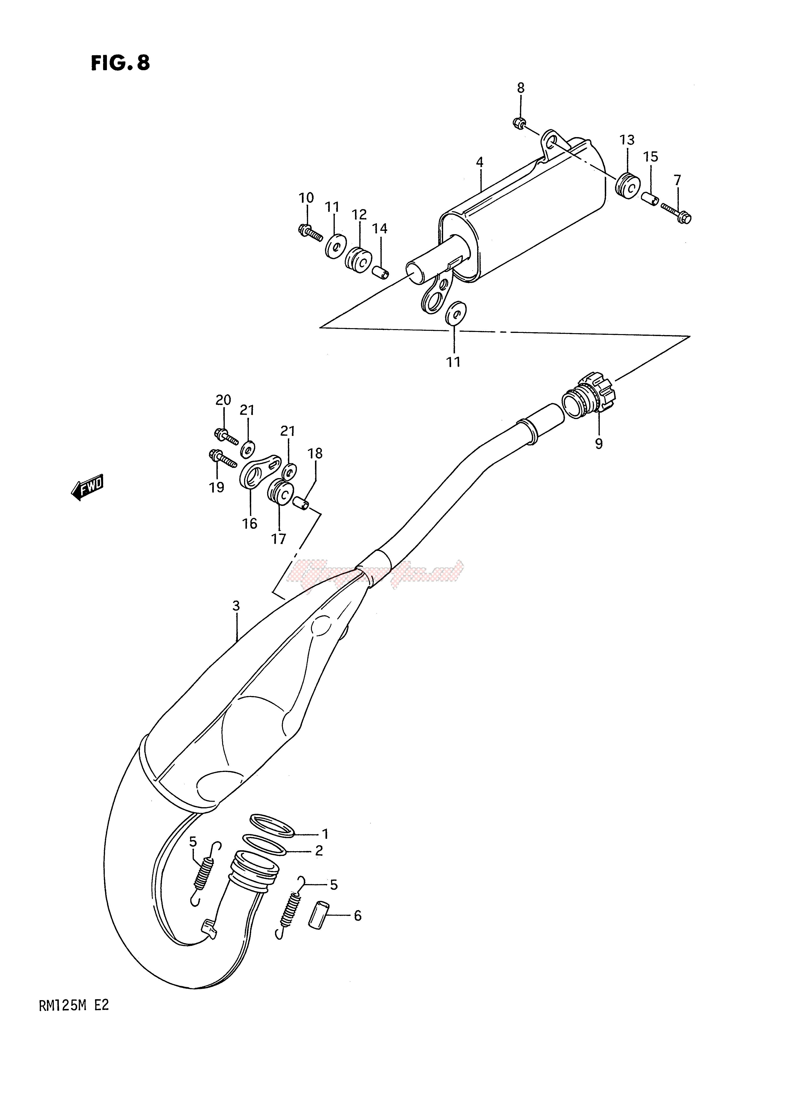 MUFFLER (MODEL K) blueprint
