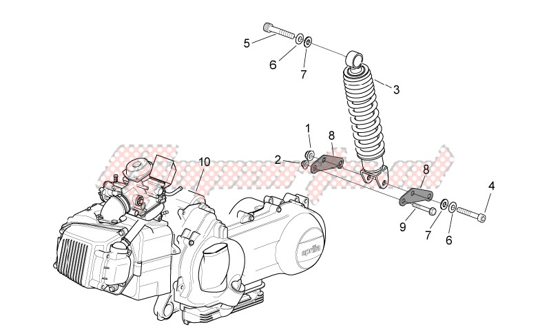 Engine - Rear shock absorber image