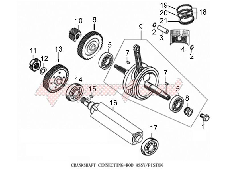 Cylinder - Piston - Wrist pin unit image