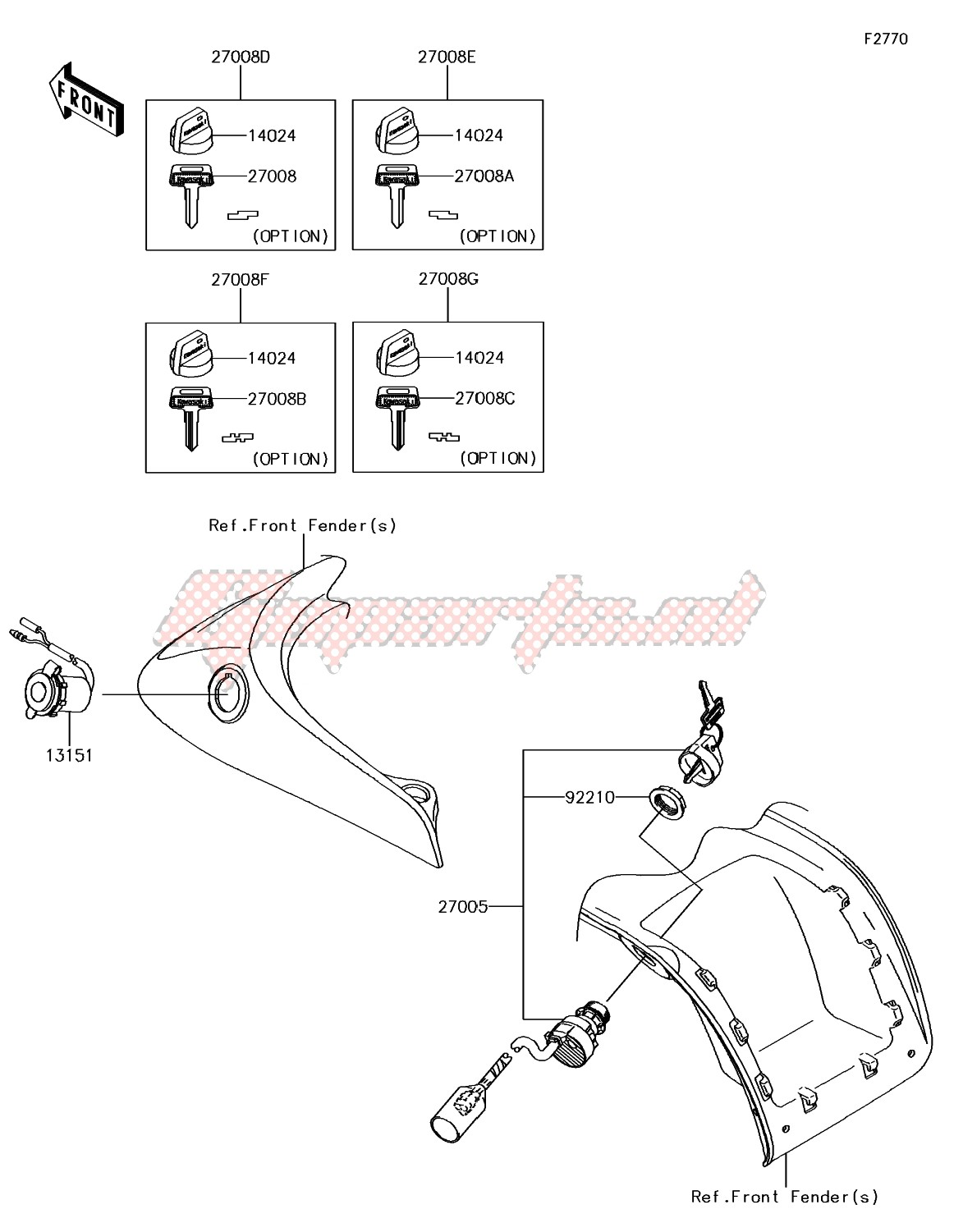 Frame-Ignition Switch