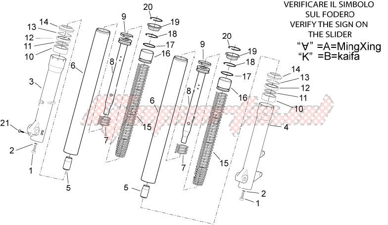 Front fork - Hubs, sleeves image