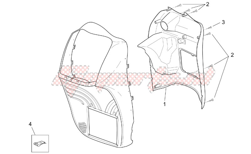 Front body - Internal shield image