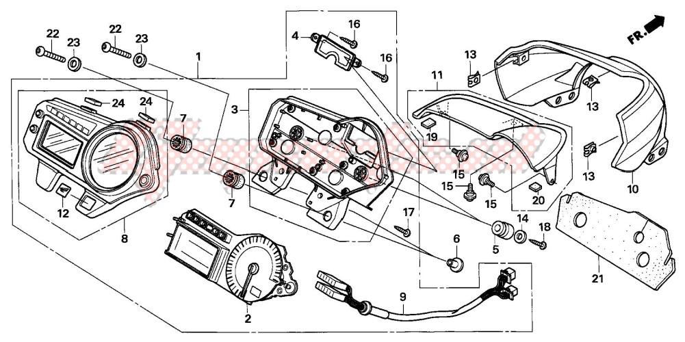 METER (CB600F5/6) blueprint