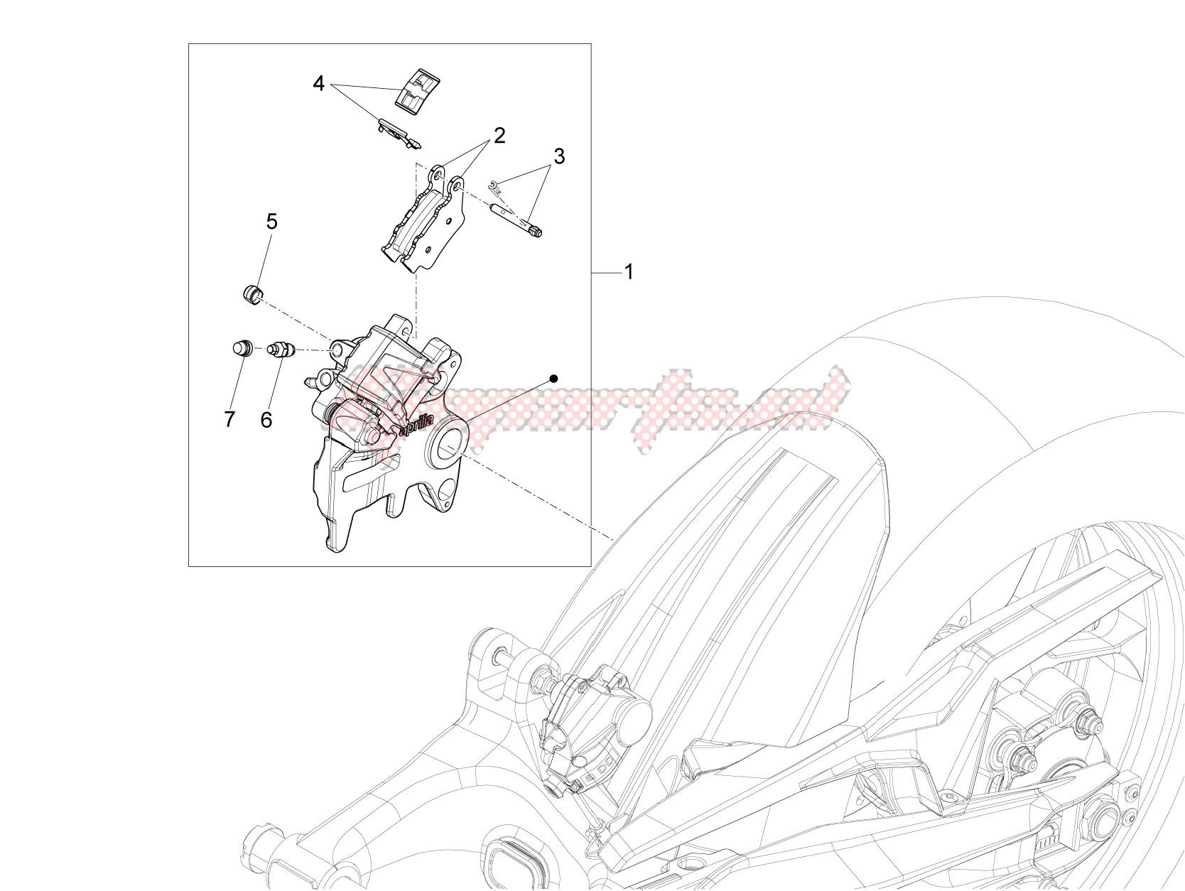 Rear master brake cylinder image